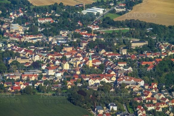 Blick auf Pulsnitz im Bundesland Sachsen