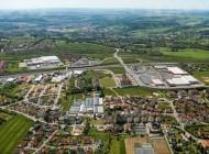 Gewerbegebiet in Dresden im Bundesland Sachsen