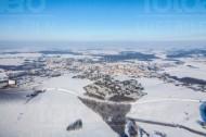 Bischofswerda im Winter im Bundesland Sachsen