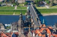 Die Augustusbrücke in Dresden bei Sachsen.