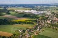 Volkswagenwerk an der Stadt Moselim Bundesland Sachsen