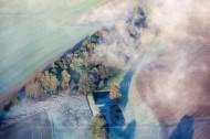 Morgendliche Landschaft mit Nebelschwaden