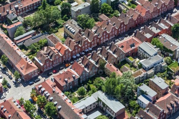 Häuserlandschaft in der Nördlichen Innenstadt von Potsdam bei Brandenburg.