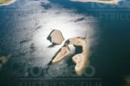 Sandbänke im Wasser