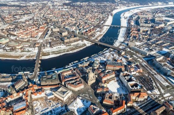 Veschneite Altstadt von Dresden im Bundesland Sachsen