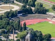 Die Yenidze und das neue Stadion in Dresen bei Sachsen in Deutschland.