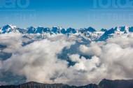 Berggipfel von Fromberghorn im Kanton Bern in der Schweiz