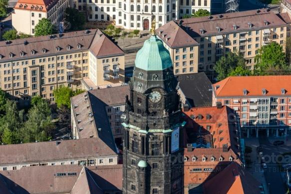 Wohnhäuser in Dresden bei Sachsen.