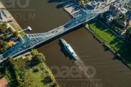 Die Loschwitzer Brücke in Dresden bei Sachsen.