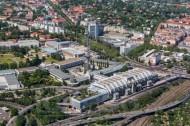 Berliner Ortsteil Westend mit dem Messegelände dem internationalen Congress-Zentrum und dem Deutschen Rundfunkmuseum.