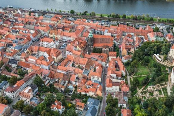 Die schöne und historische Altstadt von Pirna.