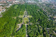 Der Große Garten in Dresden bei Sachsen.