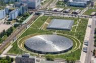 Velodrom und Schwimmsporthalle in Berlin.