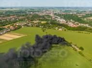 Feuer bei MeiÃ?en im Bundesland Sachsen