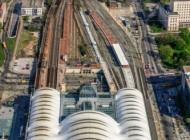 Hauptbahnhof in Dresden bei Sachsen in Deutschland.