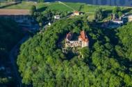 Schloss Scharfenberg an der Elbe im Bundesland Sachsen.