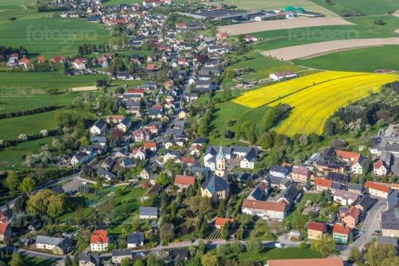 Kamenz im Bundesland Sachsen im Frühling
