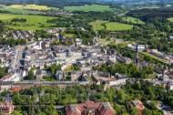 Die Stadt Oelsnitz Vogtland im Bundesland Sachsen.