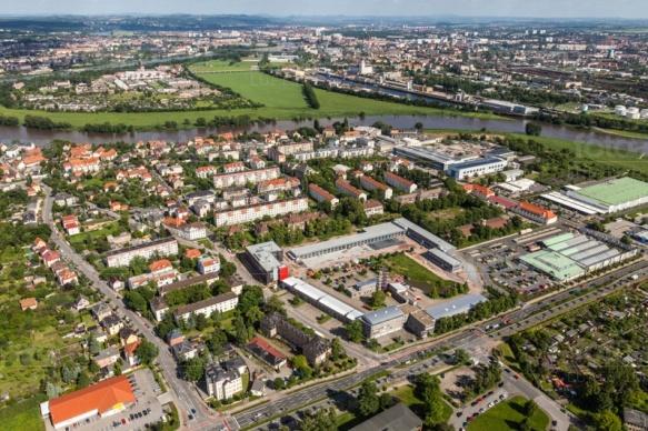 Übigau an der Elbe in Dresden bei Sachsen.