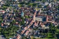 Stadtzentrum von Ruhland im Bundesland Sachsen