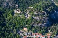 Bergfriedhof von Oybin im Bundesland Sachsen