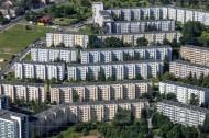 Plattenbauten in Gorbitz in Dresden im Bundesland Sachsen