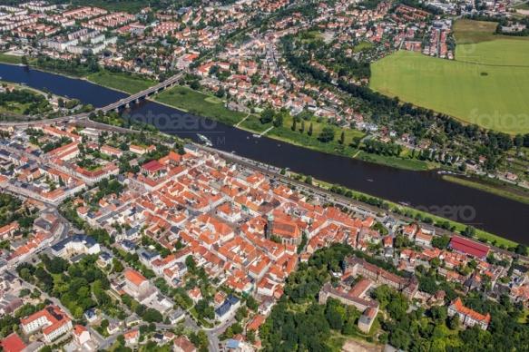 Die Elbe bei Pirna in Sachsen.