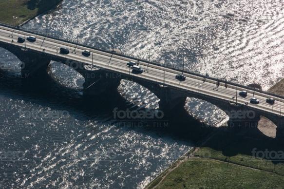 Augustusbrücke in Dresden im Bundesland Sachsen