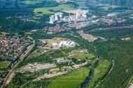 Hirschfelde im Bundesland Sachsen mit Kraftwerk Turów in Polen