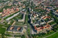 Innere Neustadt und Sächsische Staatskanzlei in Dresden im Bundesland Sachsen