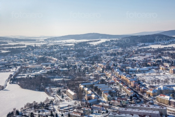 Kamenz im Bundesland Sachsen im Winter
