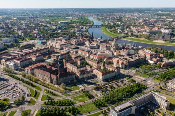 Der Altmarkt in Dresden bei Sachsen