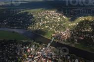 Das Blaue Wunder über die Elbe in Dresden im Bundesland Sachsen
