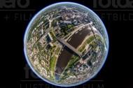 Carolabrücke im Zentrum von Dresden im Bundesland Sachsen