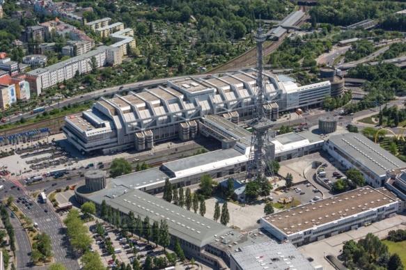 Internationales Congress Centrum Berlin im Stadtteil Westend.