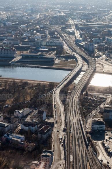 Marienbrücke im Dresdner Stadtteil Friedrichstadt im Bundesland Sachsen