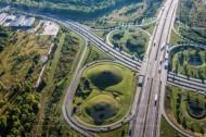 Die Autobahn A14 in Leipzig.