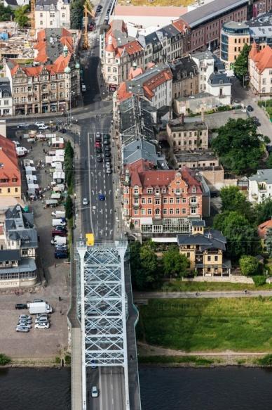 Blaues Wunder in Dresden im Bundesland Sachsen