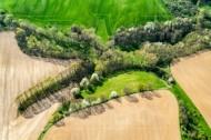 Feldlandschaft bei MeiÃ?en im Bundesland Sachsen