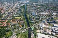Teltowkanal im Stadtteil Neuköln in der Hauptstadt Berlin