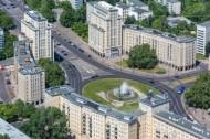 Strausberger Platz in der Hauptstadt Berlin.