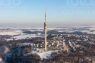 Dresdner Fernsehturm im Stadtteil Wachwitz im Bundesland Sachsen