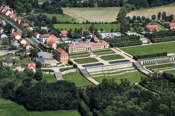 Barockgarten Großsedlitz in Heidenau bei Dresden im Bundesland Sachsen