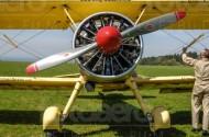 Flugzeugpropeller des Flugzeuges  Airmen Beans.