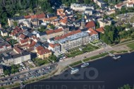 Bad Schandau in der Sächsischen Schweiz im Bundesland Sachsen