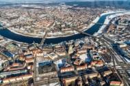 Verschneite Altstadt von Dresden im Bundesland Sachsen
