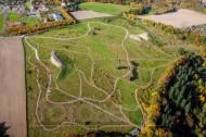 Blick auf den Forstbotanischer Garten bei Tharandt im Bundesland Sachsen
