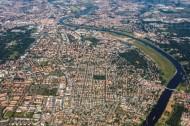 Dresden im Bundesland Sachsen von oben