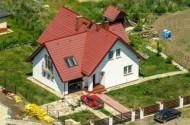 Ein Familienhaus in Debowa bei Polen.