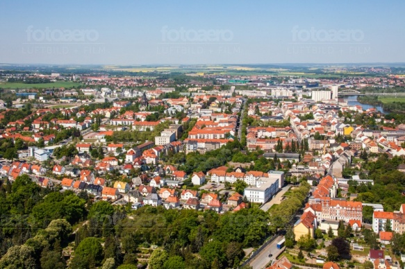 Blick auf Riesa im Bundesland Sachsen